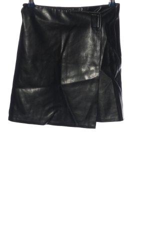 Kookai Faux Leather Skirt black extravagant style