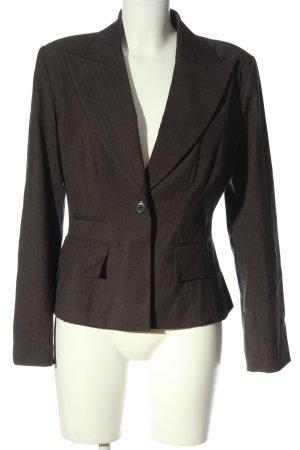 Kookai Korte blazer bruin gestreept patroon casual uitstraling