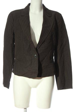 Kookai Korte blazer bruin-wit gestreept patroon zakelijke stijl