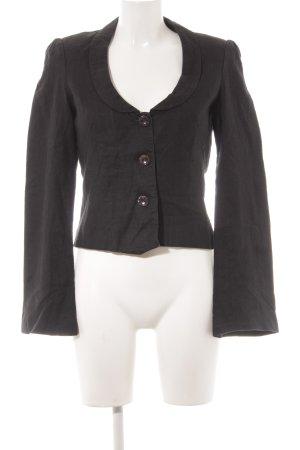 Kookai Korte blazer zwart gestippeld simpele stijl