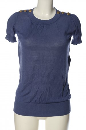 Kookai Kurzarm-Bluse blau Casual-Look