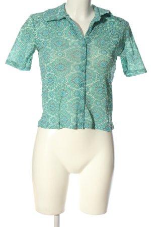 Kookai Kurzarm-Bluse abstraktes Muster Casual-Look