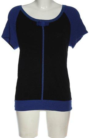 Kookai Sweter z krótkim rękawem czarny-niebieski W stylu casual