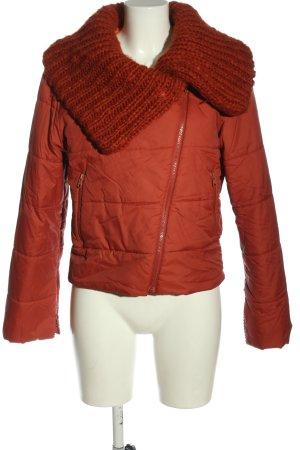 Kookai Krótka kurtka jasny pomarańczowy Pikowany wzór W stylu casual