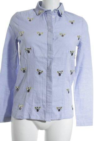 Kookai Langarmhemd himmelblau Street-Fashion-Look