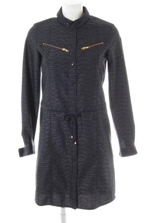 Kookai Lange Jacke goldfarben-dunkelblau Streifenmuster Street-Fashion-Look