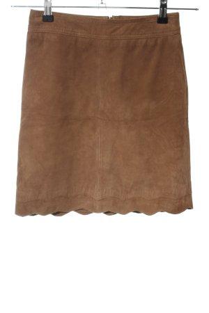 Kookai Falda de cuero color bronce look casual