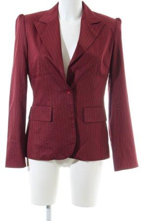 Kookai Long-Blazer rot Streifenmuster Business-Look