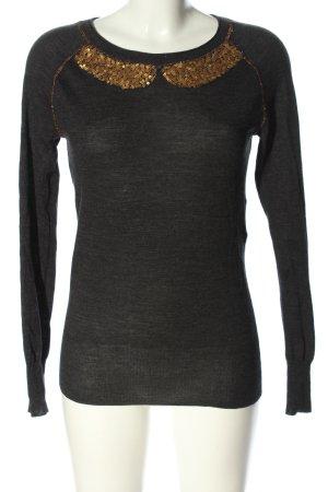 Kookai Longsleeve schwarz-bronzefarben meliert Casual-Look