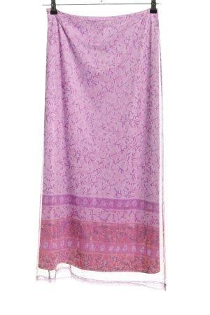 Kookai Falda larga lila-rosa estampado repetido sobre toda la superficie