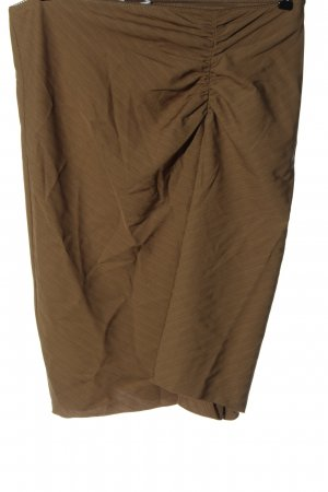 Kookai Falda midi marrón estampado repetido sobre toda la superficie