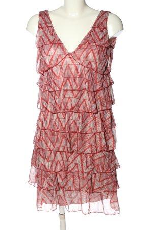 Kookai Sukienka mini czerwony-w kolorze białej wełny Na całej powierzchni