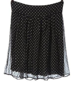 Kookai Mini-jupe noir-blanc cassé imprimé allover style décontracté