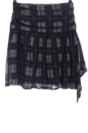 Kookai Minigonna nero-marrone stampa integrale stile casual