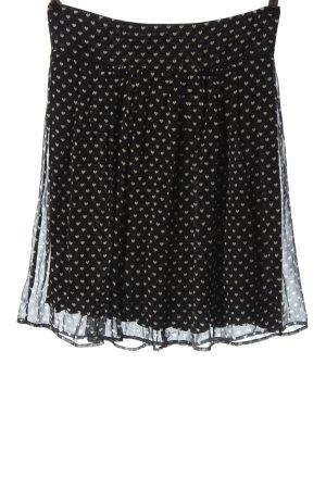 Kookai Spódnica mini czarny-w kolorze białej wełny Na całej powierzchni