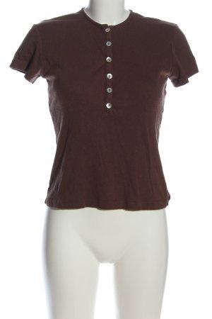 Kookai T-shirt brun style décontracté