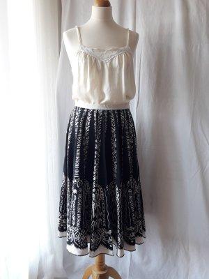 Kookai Circle Skirt black-natural white