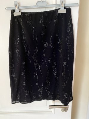 Kookai Stretch Skirt black-silver-colored