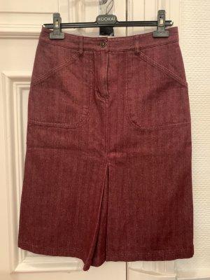 Kookai Jeansowa spódnica bordo Bawełna