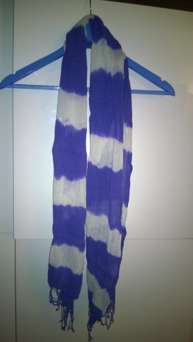 Kookai Fringed Scarf white-blue