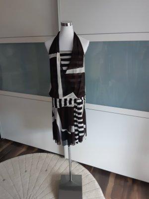 KOOKAI _ Sommerkleid _G 1 = 36 _ schwarz - weiß - braun