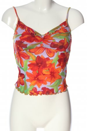 Kookai Haut à fines bretelles motif de fleur style décontracté