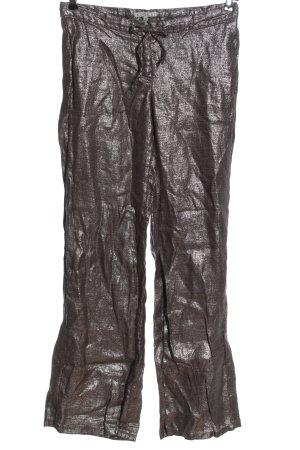 Kookai Stoffhose bronzefarben Streifenmuster Casual-Look