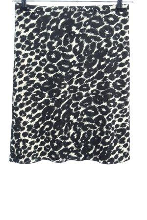 Kookai Stretchrock schwarz-weiß Animalmuster Casual-Look