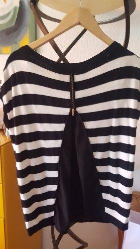 Kookai Strick Shirt schwarz creme Gr.38 (2)