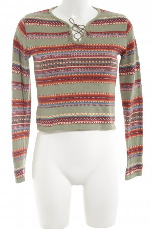 Kookai Strickpullover grafisches Muster Casual-Look