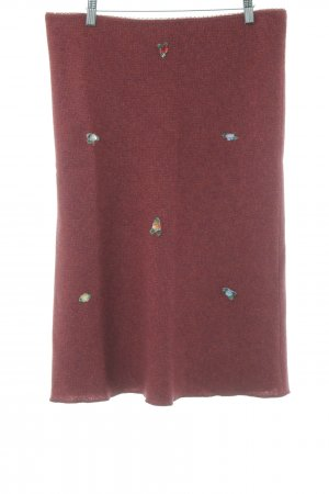 Kookai Knitted Skirt brick red-carmine