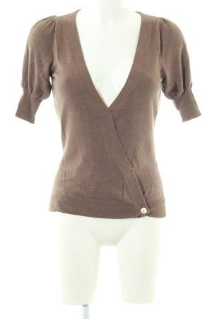 Kookai Strickshirt braun Business-Look