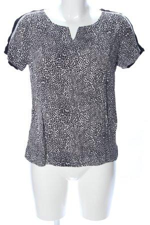 Kookai T-Shirt schwarz-weiß Allover-Druck Casual-Look