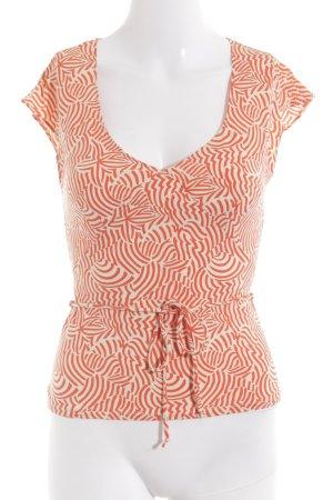 Kookai T-Shirt creme Streifenmuster Bänderverzierung