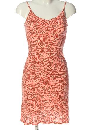 Kookai Robe à bretelles rouge-crème motif abstrait style décontracté