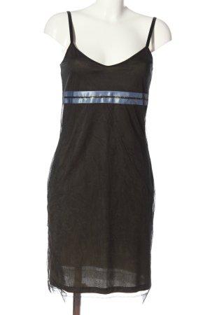 Kookai Robe à bretelles noir-bleu motif rayé style décontracté