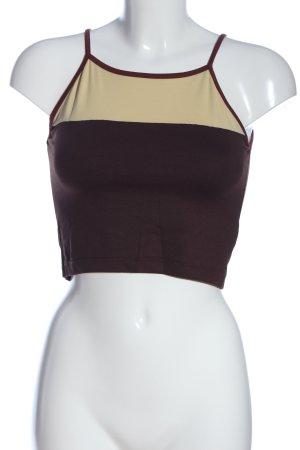 Kookai Trägertop braun-creme Casual-Look