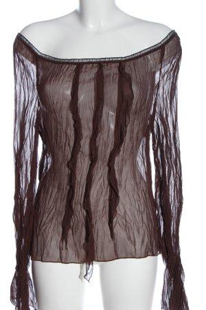 Kookai Transparentna bluzka brązowy Elegancki