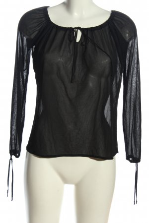 Kookai Transparenz-Bluse schwarz Elegant