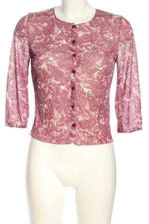 Kookai Blouse transparente rose-blanc cassé motif abstrait style décontracté