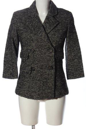 Kookai Blazer en tweed noir-blanc style décontracté