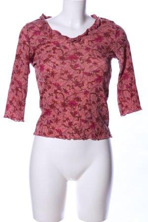 Kookai V-Ausschnitt-Shirt rot Allover-Druck Casual-Look