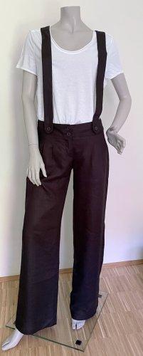 Kookai Lniane spodnie czarny Len