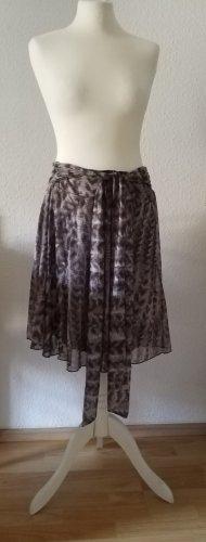 Kookai Falda de seda gris claro-gris