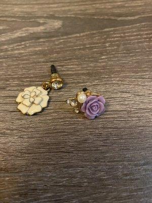 Kopfhörer Adapter Handy Schmuck rose strass Gold Perle