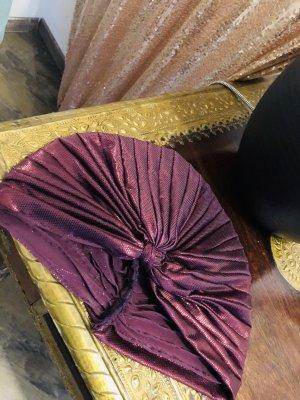Berretto viola-nero