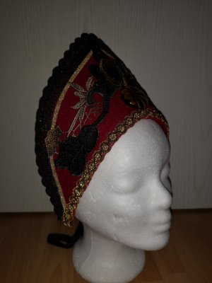 Unikat Einzelstück Felt Hat dark red-black wool