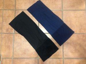 Cappello in tessuto nero-blu scuro