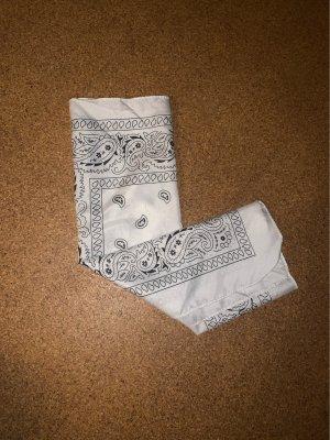 Fazzolettino da tasca bianco-nero