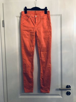 7 For All Mankind Skinny jeans roze